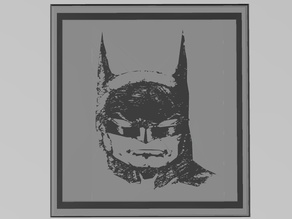Multi-Material Learn To Draw Batman Framed