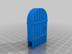 Round Top Wood Door terrain (Wylock style) Clip-on for DnD and Pathfinder
