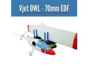VJet OWL 70mm EDF  from OWLplane - test files