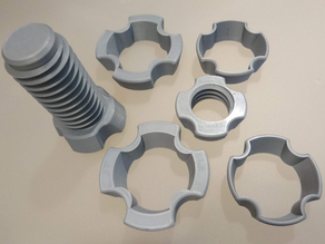 Threaded spool with 53-59-73 mm adapters