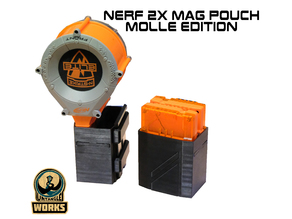 Nerf 1x or 2x Mag pouch molle edition