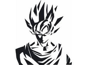 Dragonball Z - Goku Stencil