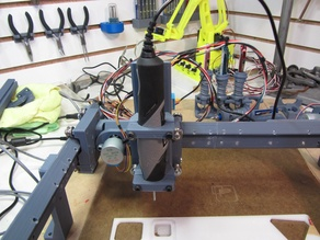 Dremel 2050 Stylo spindle holder for the Fully 3D Printed Small CNC
