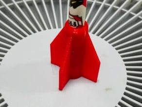 Customizable rocket pencil top