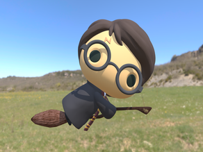 Harry Potter Chibi Flying