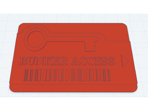 Red Access Card - Call Of Duty Warzone