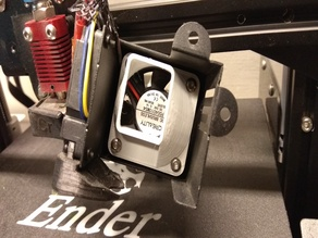 directing the cooling of the extruder of the printer ender 3