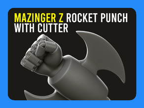 ▷ Mazinger Z Rocket Punch with Cutter 【 KEYCHAIN 】
