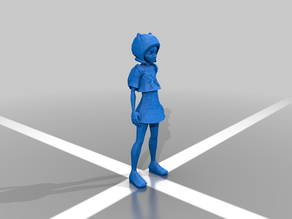 Retromatti.com Low Poly Finn from Adventure time - in skirt!