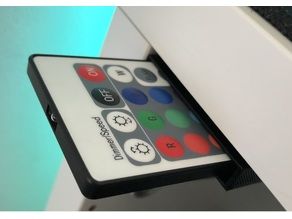 LED Lights Desk Remote Holder