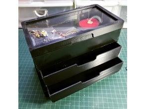Jewelry Box (with Acrylic Window Display, 2 Drawers)