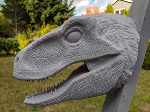 Velociraptor Head For Wall (Large)