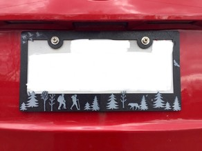 License Plate Cover - Hiking Themed