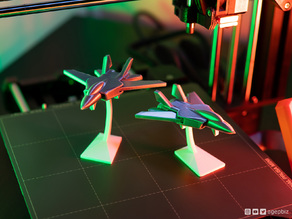 Print-in-place and articulated Jet Fighter with Stand
