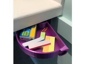 Under desk swivel tray