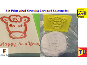 2021 greeting card model and cake model