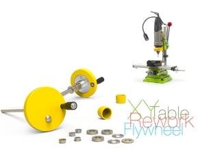 Rework of the X-Y axis table: Flywheel