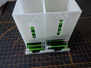 Battery dispenser dual : AAA & AA (Simplified for printing)