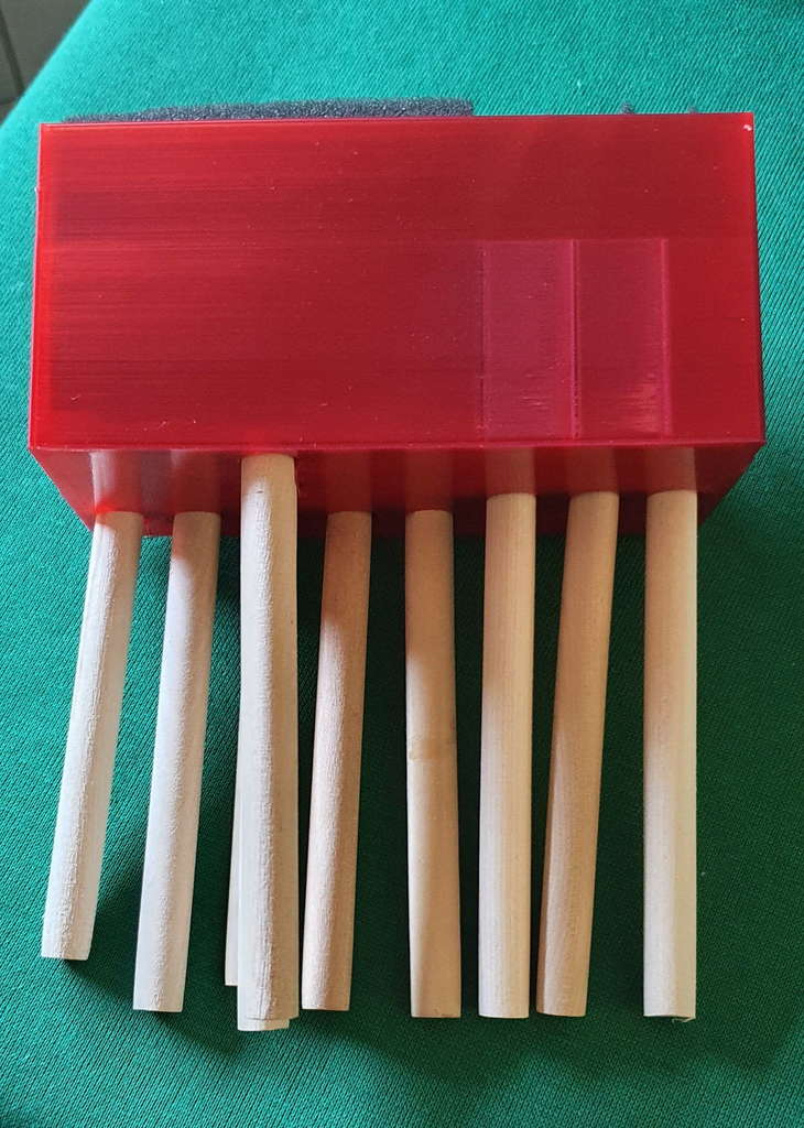 Detailing foam brush holder