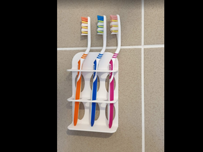 Holders for toothbrushes from 1 to 6 brushes