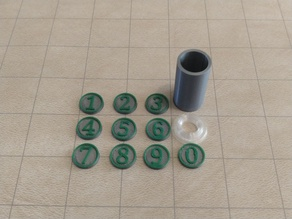 DnD Initiative Combat Counters and Container