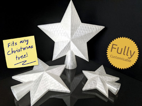 Fully Customizable Christmas Tree Star Topper