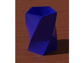 Pencil pot with secret compartment