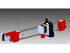 X Carriage BMG extruder