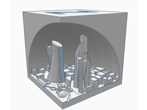 a normal XYZ 20mm calibration cube but with a city on the inside