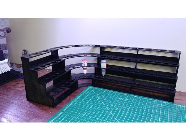 Modular Hobby Paint Rack-Large Straight (including large printer files)