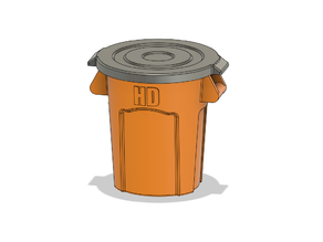 Scale Trash Can
