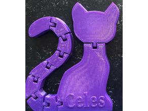 Print In Place Cat With Articulated Tail