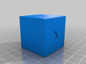 XYZ Calibration Cube with Chamfers and Rounded Edges