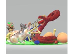 Mousefolk versus Spitting Firesnake