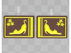 cosplay police shoulder badge 3-star CAT - Gustokatze