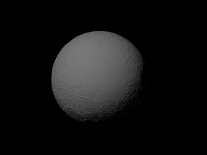 Luna with exaggerated topography scaled one in twenty million