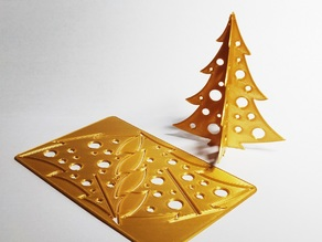 Christmas tree punch out card