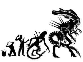 Alien Evolution stencil