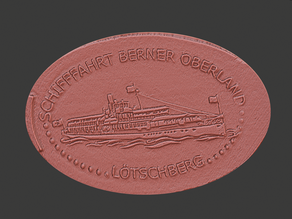 Loetschberg Paddle Steamer Elongated Coin