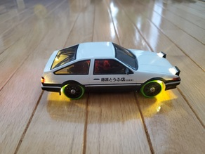 Fully Printed 4WD Drift Car Chassis - 1:28 Scale
