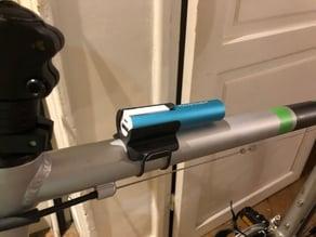External battery bike mount