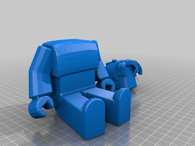 bacon hair form roblox by Thingiverse3 Thingiverse