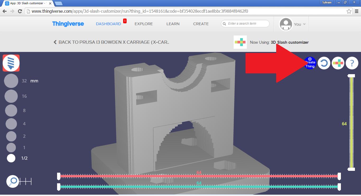 App: 3D Slash customizer - Thingiverse