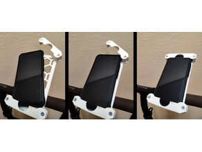 Phone mount for bicycle or scooter (PARAMETRIC)