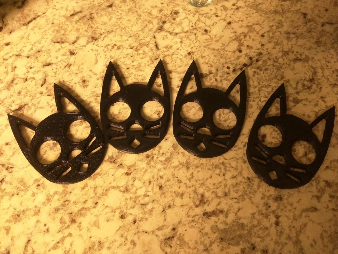 Makes Of Black Cat Self Defense Keychain By A8ksh4 Thingiverse