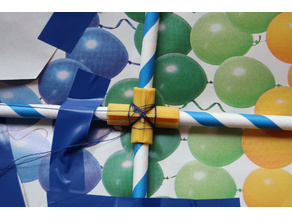 Kite cross + extender coupling for 6mm straws