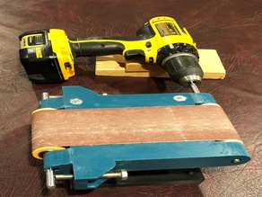 Belt Sander Using Drill with Foot Pedal - UPDATED