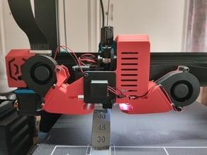 Sidewinder X1 - double fan mount