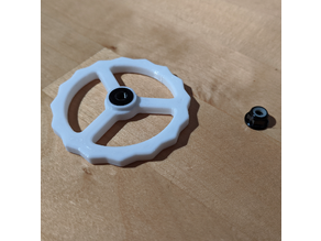 Bed leveling knob for M4 nuts