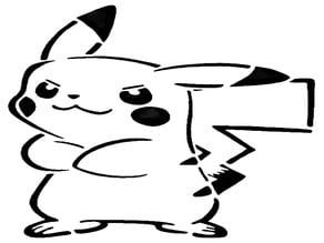 Pikachu stencil 3